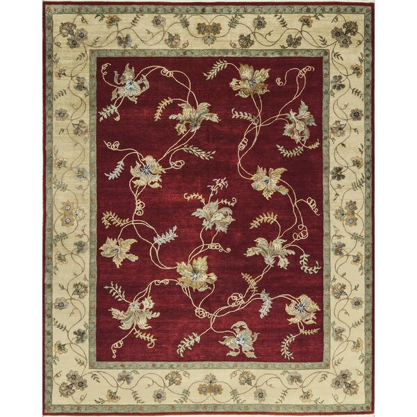One-of-a-Kind Dharma Hand-Knotted Red/Beige Indoor Area Rug by Bokara Rug Co., Inc.