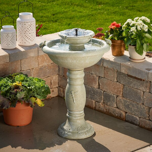 Resin Solar Country Gardens Two Tier on Demand Fountain by Smart Solar