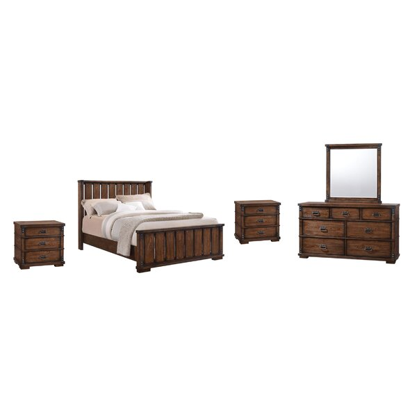 Dutra Platform 5 Piece Solid Wood Bedroom Set by Millwood Pines Millwood Pines