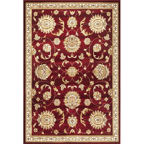 Bellville Red & Beige Area Rug by Charlton Home