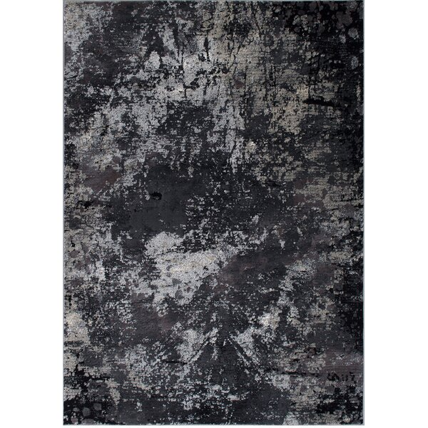 Fauna Abstract Ash Area Rug by 17 Stories