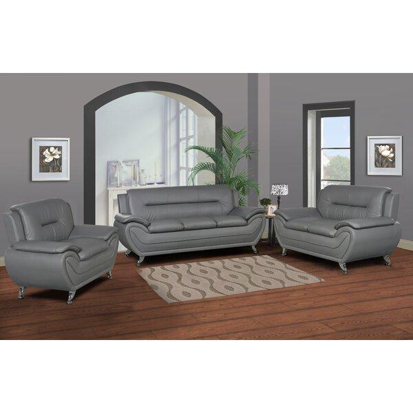 Polston Modern 3 Piece Living Room Set by Latitude Run