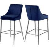 Terrific Modern Blue Velvet Bar Counter Stools Allmodern Alphanode Cool Chair Designs And Ideas Alphanodeonline