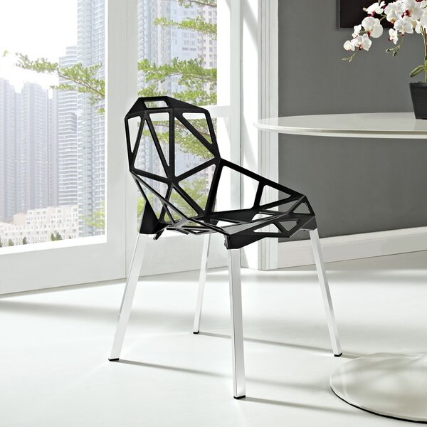 Connections Stacking Patio Dining Chair by Modway