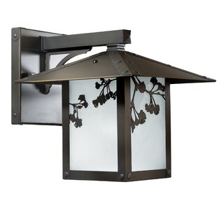 Reviews Emond Gingko Outdoor Wall Lantern By Millwood Pines