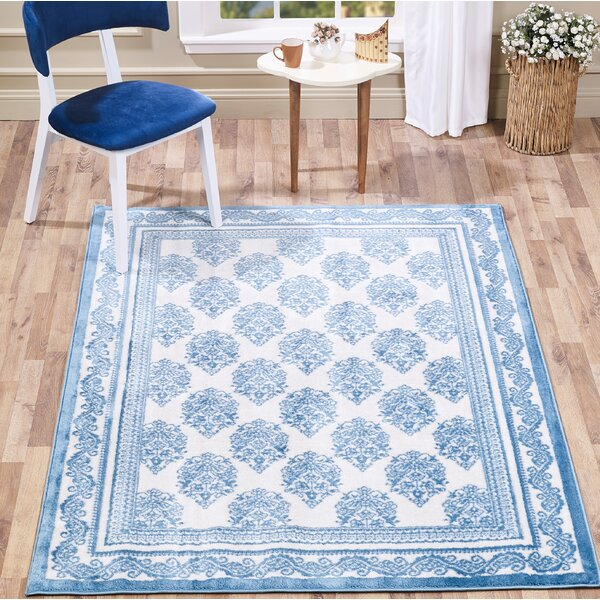 Alison Chandelier Navy Area Rug by Bungalow Rose