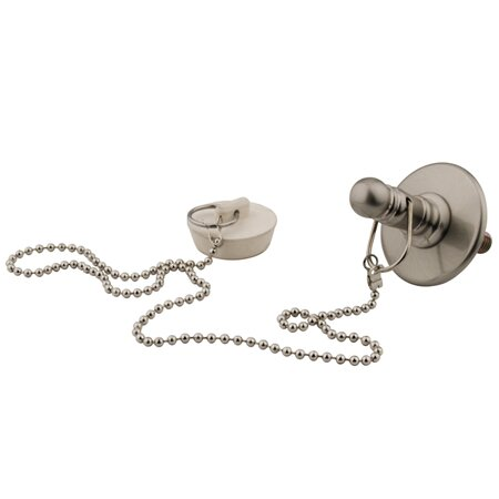 Vintage Replacement Rubber Stopper, Chain and Attachment for CC1008 by Kingston Brass