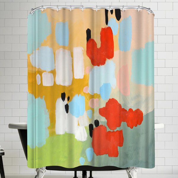 Annie Bailey Beating Hearts Shower Curtain by East Urban Home