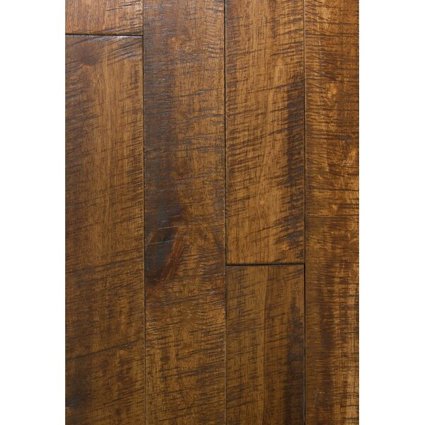 4.5 Solid Hevea Hardwood Flooring in Distressed Tea Leaf by Maritime Hardwood Floors