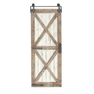 Farmhouse Rectangular Wood and Metal Interior Door