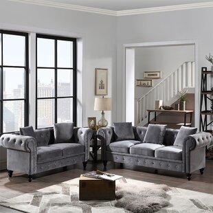 2 Piece Velvet Living Room Set by Rosdorf Park