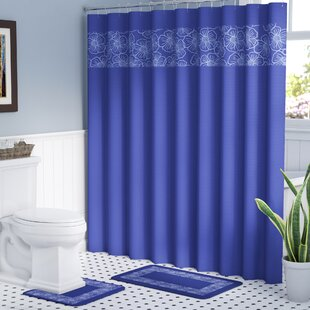 Navy Blue Shower Curtain Sets