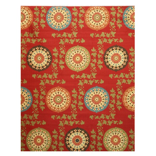 Miranda Red Area Rug by Threadbind