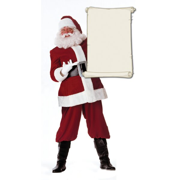 Christmas Santa Claus with Scroll Cardboard Stand-up by Advanced Graphics