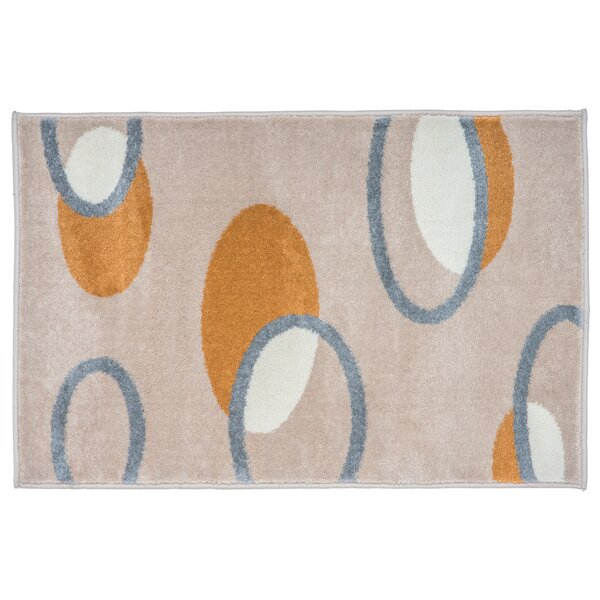 Teller Beige Area Rug by Ebern Designs