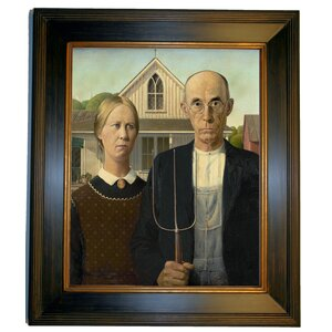 'American Gothic' by Grant Wood Framed Painting Print by Historic Art Gallery