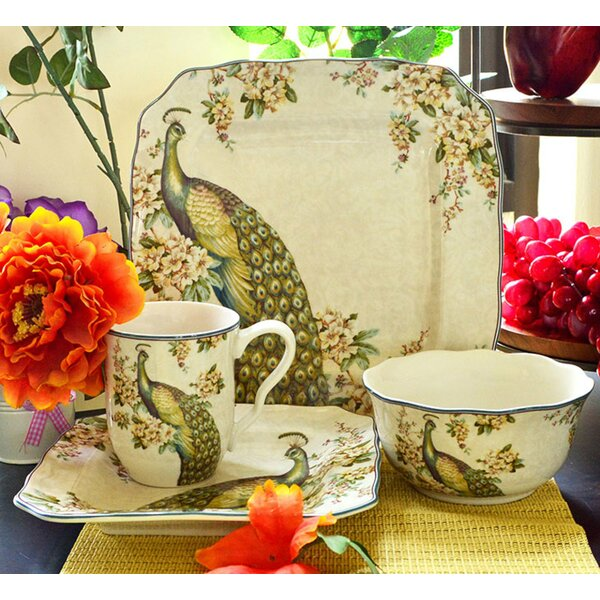 Empress Garden 16 Piece Dinnerware Set, Service for 4 by 222 Fifth