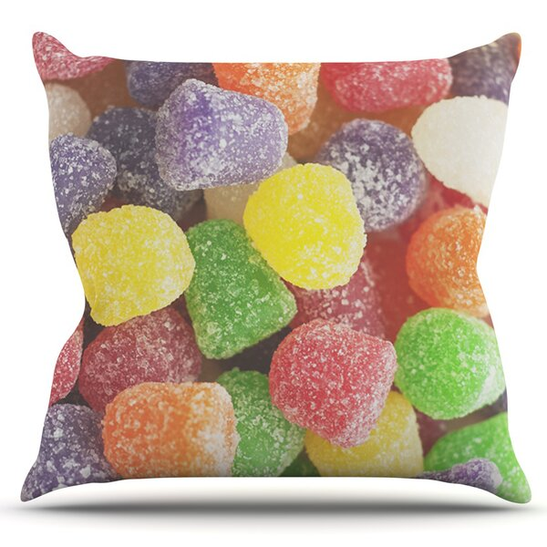 I Want Gum Drops by Libertad Leal Outdoor Throw Pillow by East Urban Home