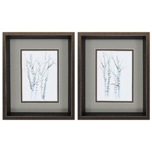 Birches 2 Piece Framed Painting Print Set by Propac Images