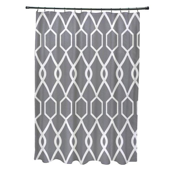 Charleston Geometric Print Shower Curtain by e by design