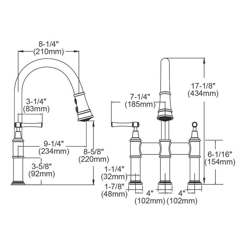 Elkay Explore Pull Down Bridge Faucet Amp Reviews Wayfair