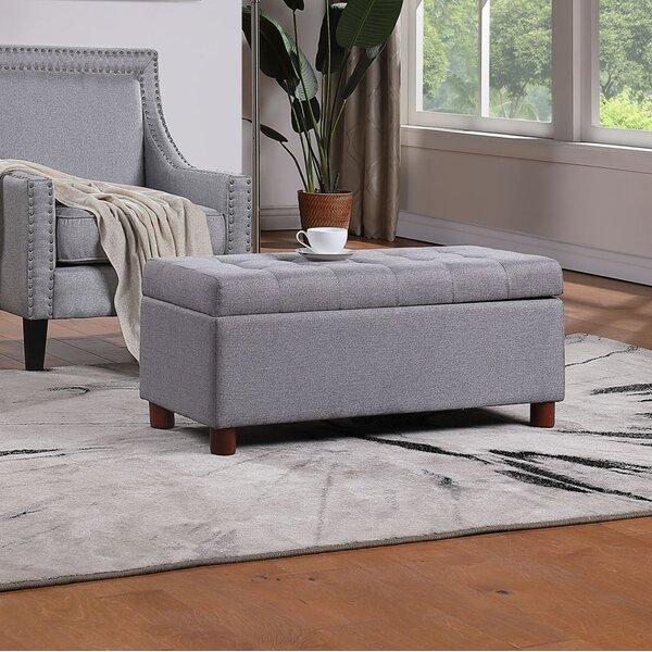 Basanti Upholstered Flip Top Storage Bench by Latitude Run