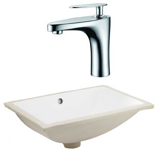 Bargain CSA Ceramic Rectangular Undermount Bathroom Sink with Faucet and Overflow By Royal Purple Bath Kitchen