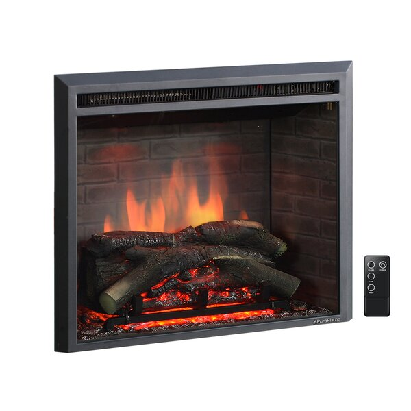 Armes Black 750/1500W Western Electric Fireplace Insert by Loon Peak