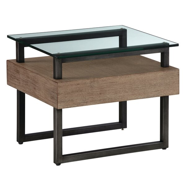 Hadrian Rectangular End Table by 17 Stories