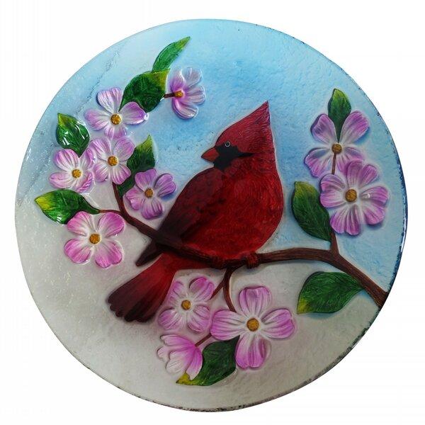 Cardinal Birdbath by Alpine