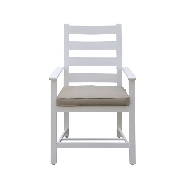 Halverson Patio Dining Chair with Cushion (Set of 2) by Highland Dunes