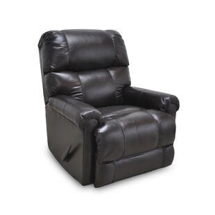 Woodview Leather Manual Rocker Recliner by DarHome Co