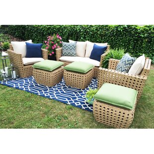 Bethany 6 Piece Sunbrella Sofa Set with Cushions By AE Outdoor