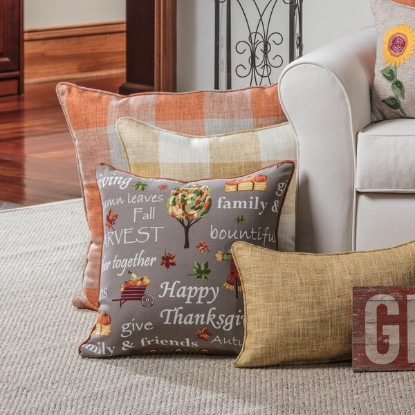 Dowdy Autumn Harvest Haystack Indoor/Outdoor Floor Pillow by The Holiday Aisle