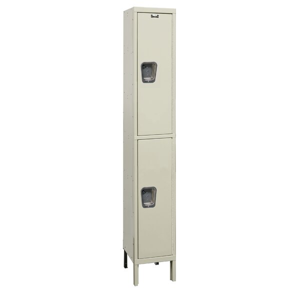 Maintenance-Free 2 Tier 1 Wide School Locker by Hallowell