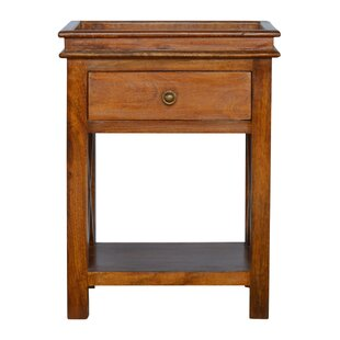 Compare & Buy Crichton Criss-Cross End Table with Storage ByDarby Home Co
