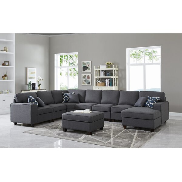 Yateley Symmetrical Modular Sectional With Ottoman By Latitude Run Find