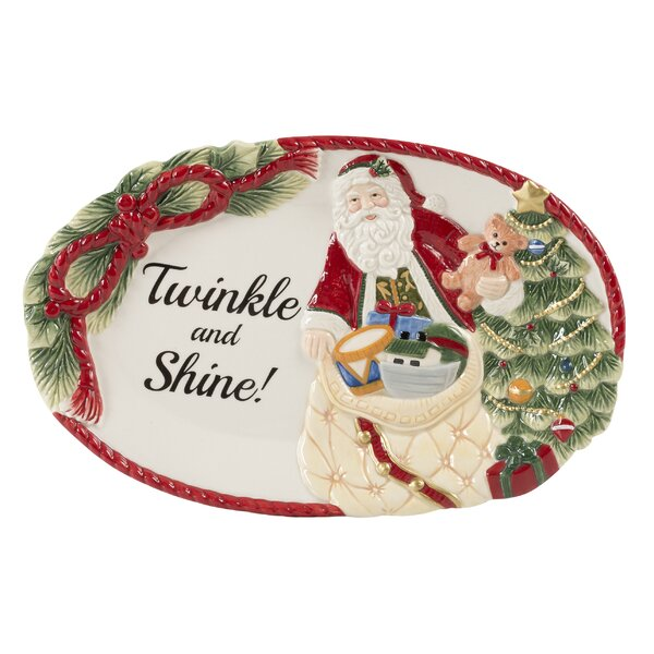 Night Before Christmas Sentiment Tray by Fitz and Floyd