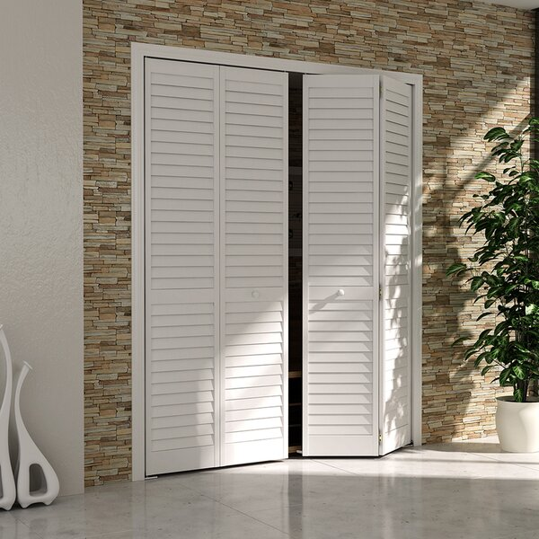 Plantation Louver Panel Wood Bi-Fold Door by Kimberly Bay