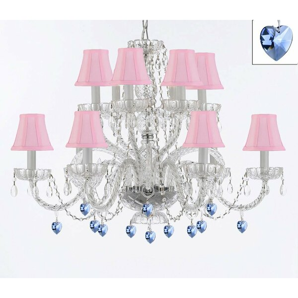 Bowerville 12-Light Shaded Chandelier Tiered Chandelier by Rosdorf Park Rosdorf Park