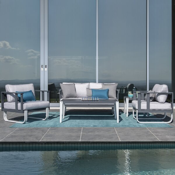 ArAgon 5 Piece Sofa Seating Group with Cushions by Brayden Studio