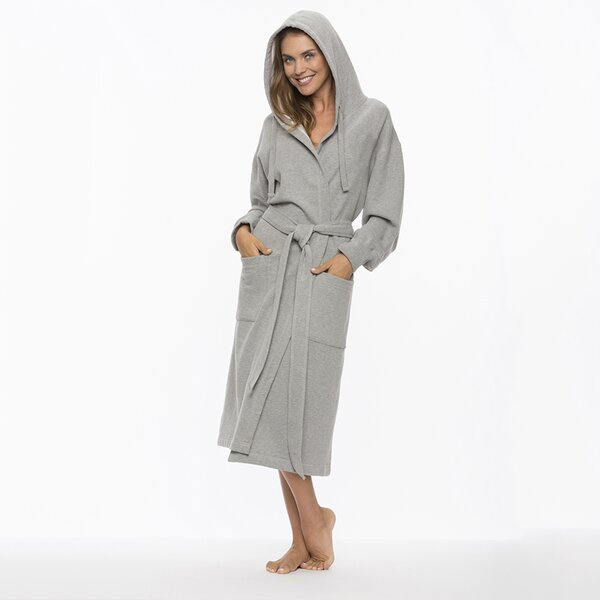 Pierson Sweatshirt Cotton Blend Bathrobe by Winston Porter