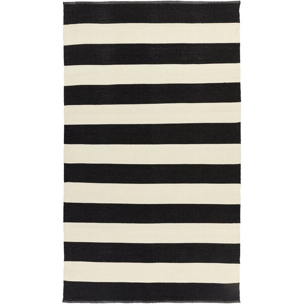 Pasuruan Black/Ivory Rug by Wrought Studio