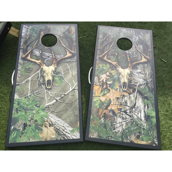 Realtree Extra Skull Camo 10 Piece Cornhole Set by West Georgia Cornhole