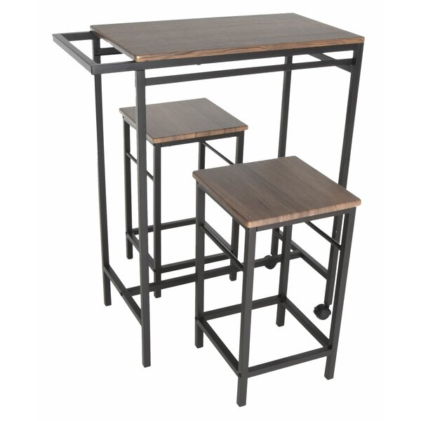 Maloney 3 Piece Pub Table Set by Williston Forge