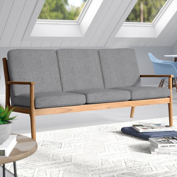 Alaina Modern Straight Arm Sofa by Langley Street