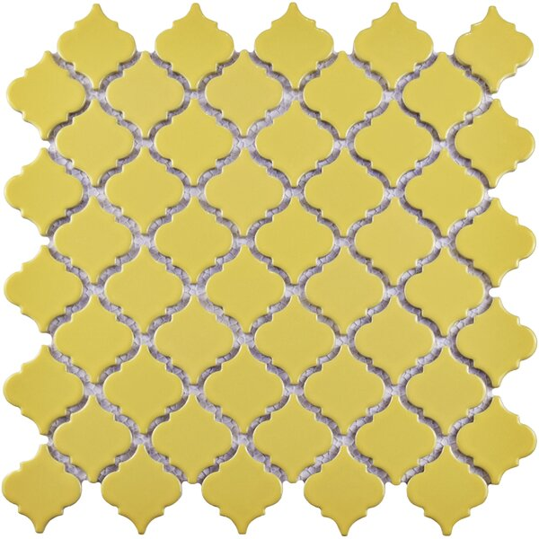Pharsalia 12.38 x 12.5 Porcelain Mosaic Floor and Wall Tile in Yellow by EliteTile