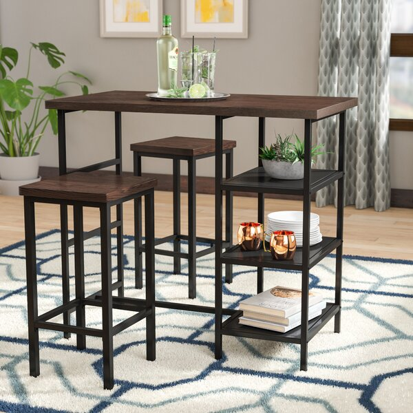 Du Bois 3 Piece Pub Table Set by Ivy Bronx