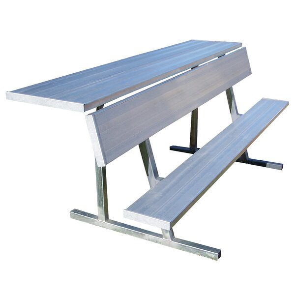 7 5 Portable Aluminum Players Bench By Jaypro Sports.