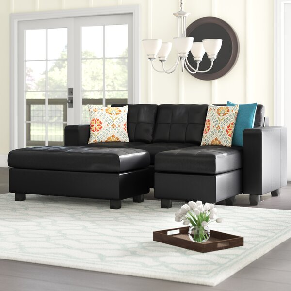 Buy Online Top Rated Rutkowski Reversible Sectional with Ottoman by Ebern Designs by Ebern Designs